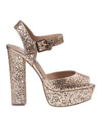Steve Madden - Metallic Jillyy Platform Sandal Gold Glitter - Lyst