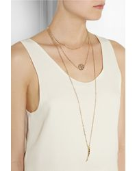 Arme De L'Amour - Metallic Layered Goldplated Necklace - Lyst