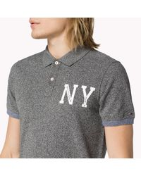 Tommy Hilfiger | Gray Cotton Ny Polo for Men | Lyst