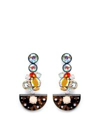 J.Crew | Multicolor Crystal Tortoise Chandelier Earrings | Lyst