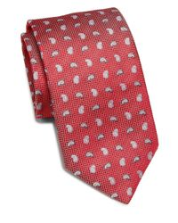 Saks Fifth Avenue | Red Paisley Print Silk Tie for Men | Lyst