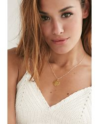Forever 21 - Metallic Moon And Lola Small Dalton L Necklace - Lyst