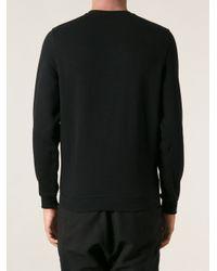 Carven - Black Embroidered Sweatshirt for Men - Lyst