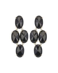 Kendra Scott | Black Steph Crystal Statement Earrings | Lyst