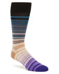 Paul Smith | Gray 'higgle' Stripe Socks for Men | Lyst
