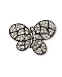 Kenneth Jay Lane | Black Crystal Butterfly Brooch | Lyst