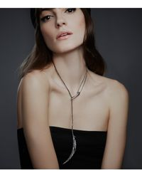Colette Malouf | Metallic Raven Feather Lariat | Lyst