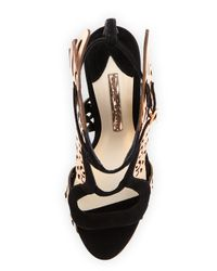 Sophia Webster - Black Parisa Winged Suede Sandals - Lyst
