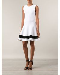 Victoria Beckham - White Flared Dress - Lyst