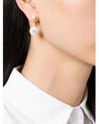 Delfina Delettrez - White Pearl 'piercing' Earring - Lyst