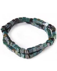 George Frost - Green Veritas Morse Doublet Bracelet for Men - Lyst
