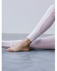 Free People | Pink Fp Movement Womens Wind Down Knit Pants | Lyst