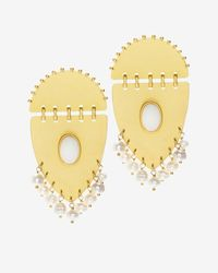 Paula Mendoza | Metallic Jarama Pearl Detail Earrings | Lyst