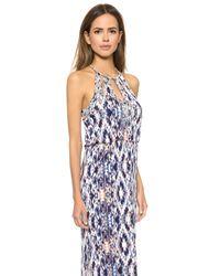 Parker | White Pascilina Geometric-Beaded Sheath Dress | Lyst