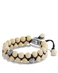 David Yurman | Natural Spiritual Beads Two-Row Bracelet With River Stone for Men | Lyst
