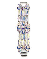 kate spade new york - Metallic Capital Glow Statement Bracelet - Lyst