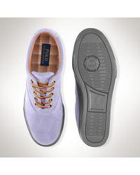 Polo Ralph Lauren - Brown Suede Vaughn Sneaker for Men - Lyst