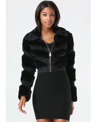 Bebe | Black Monica Faux Fur Jacket | Lyst