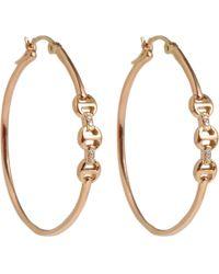 Hoorsenbuhs - Pink Rose Gold Diamond Dame Trilink Earrings - Lyst