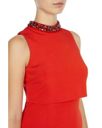 Coast | Red Petrina Trim Dress | Lyst