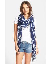 Hinge - Blue Tie Dye Scarf - Lyst
