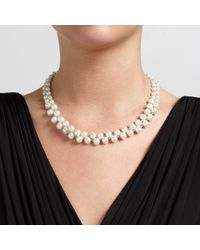 John Lewis | White Double Row Wired Faux Pearl Necklace | Lyst