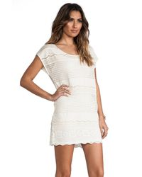 Somedays Lovin - White Dimensions Lace Tee Dress - Lyst