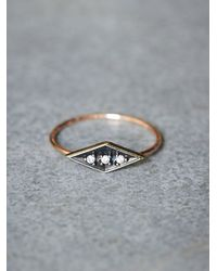 Free People | Metallic Workhorse Womens Eike Diamond Ring | Lyst