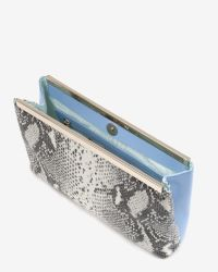 Ted Baker - Multicolor Exotic Coloured Leather Clutch - Lyst