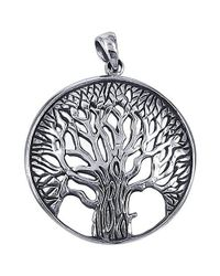 Aeravida | Metallic Magnificent And Inspiring Tree Of Life Sterling Silver Pendant | Lyst