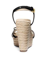 MICHAEL Michael Kors | Black Josie Patent Leather Wedges | Lyst