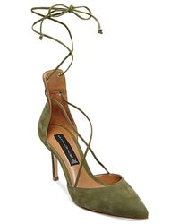 Steven by Steve Madden | Green Spiceyy Lace-up-leg Pumps | Lyst