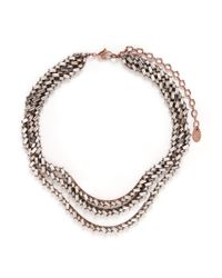 Erickson Beamon | White 'war Of The Roses' Swarovski Crystal Necklace | Lyst