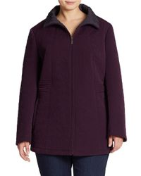 Gallery | Purple Plus Zip-front Coat | Lyst
