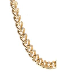 ASOS - Metallic Curb Chain Necklace - Lyst