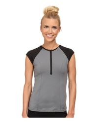 Spanx | Gray Capped Sleeve Top | Lyst