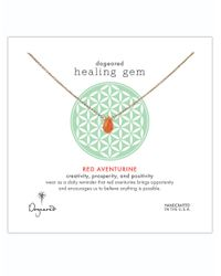 Dogeared | Healing Gem Red Aventurine Pendant Necklace | Lyst