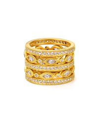 Freida Rothman | Metallic Marquise Eternity Rings, Set Of 5 | Lyst