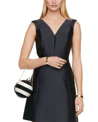 Kate Spade | Black Stripe Ornament Clutch | Lyst