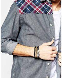 Icon Brand - Black Triple Bracelet Pack for Men - Lyst