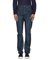 Edwin | Blue Denim Trousers for Men | Lyst