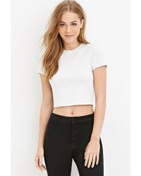 Forever 21 | Gray Heathered Crop Top | Lyst
