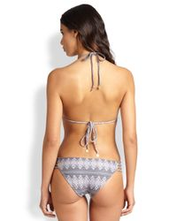 Tori Praver Swimwear - Blue One-Piece Agave Strappy Swimsuit - Lyst