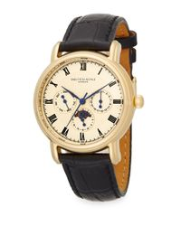 5f3bce6a3b2 Lyst - Saks Fifth Avenue Goldtone Stainless Steel   Leather Multi ...