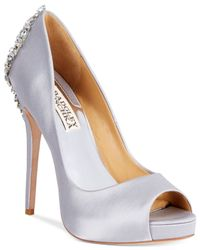 Badgley Mischka | Metallic Kiara Platform Evening Pumps | Lyst