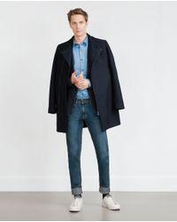 Zara | Blue Classic Twill Shirt for Men | Lyst