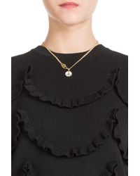 Marc By Marc Jacobs | Metallic Disc-o Peace Out Necklace - White | Lyst