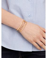 kate spade new york - Metallic Look On The Bright Side Hinged Idiom Bangle - Lyst