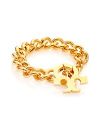 Tory Burch | Metallic Serif T Logo Toggle Bracelet | Lyst