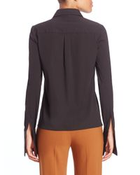 Michael Kors - Black Stretch-cotton Shirt - Lyst
